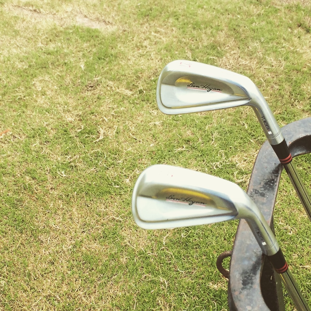 27* & 35* Ben Hogan Ft. Worth Irons on rack at Houston Nationsl