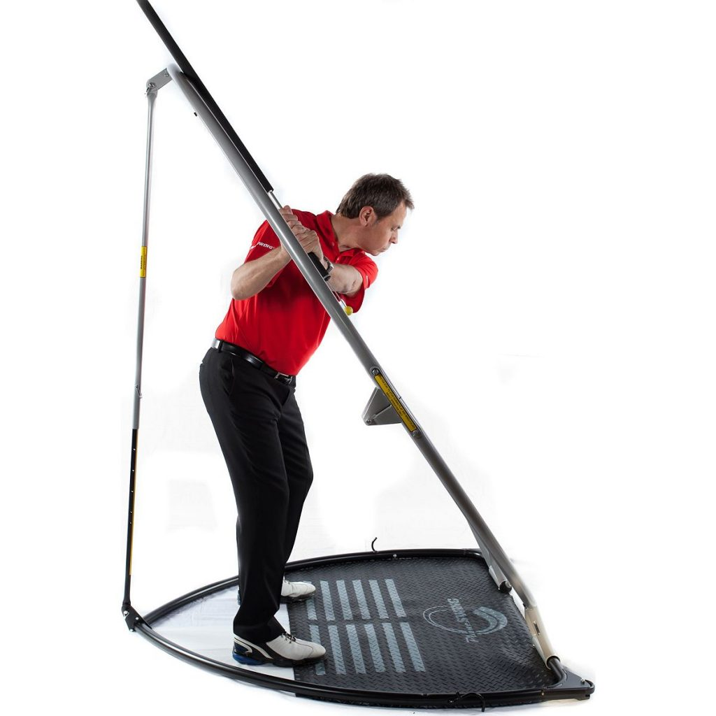 Tony in his Backswing in the swing plane