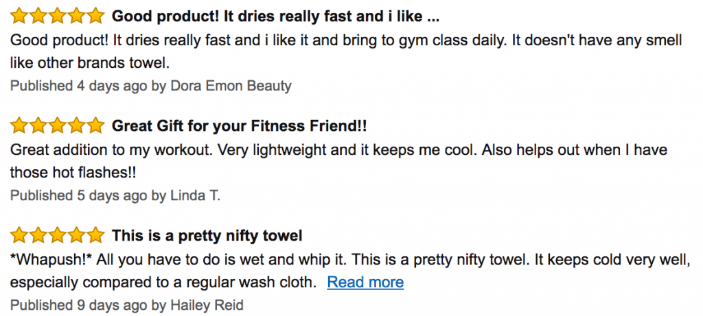 Cool Towel Reviews