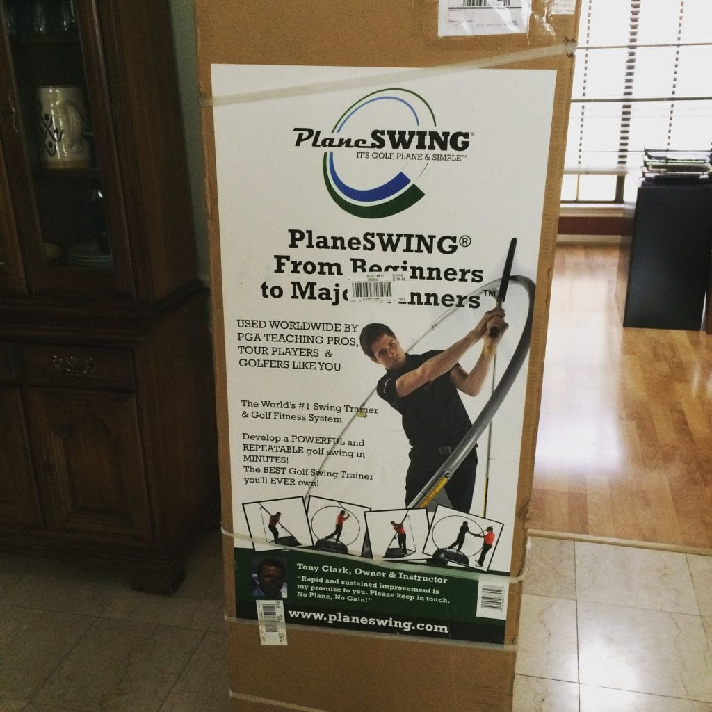 PlaneSwing Golf Swing Trainer In the Box
