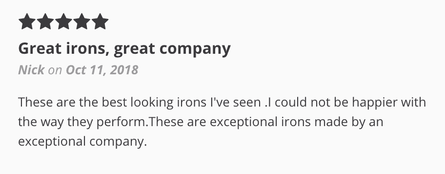 Ft. Worth Irons review