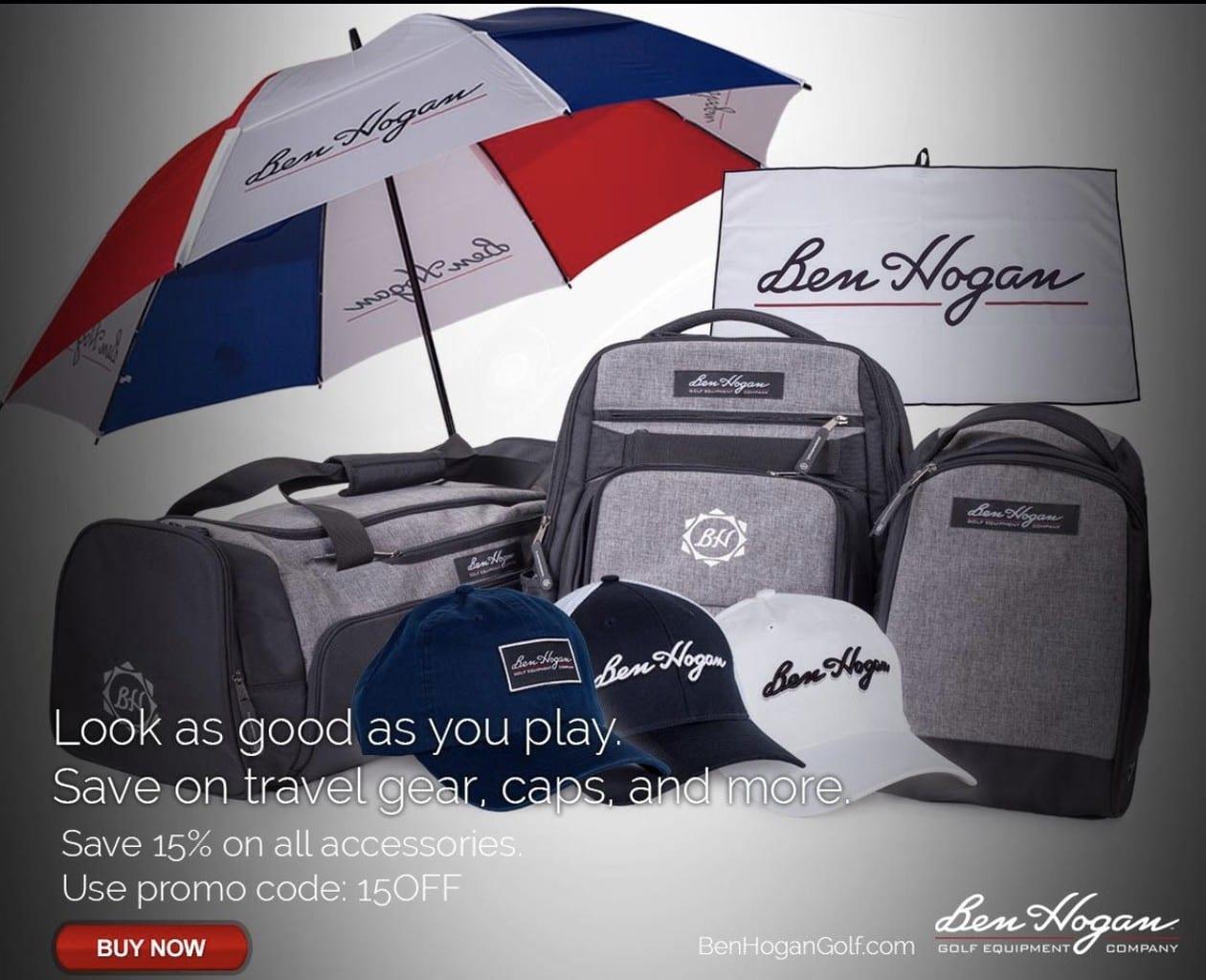 Ben Hogan Golf Bags, Hats, & Accessories August