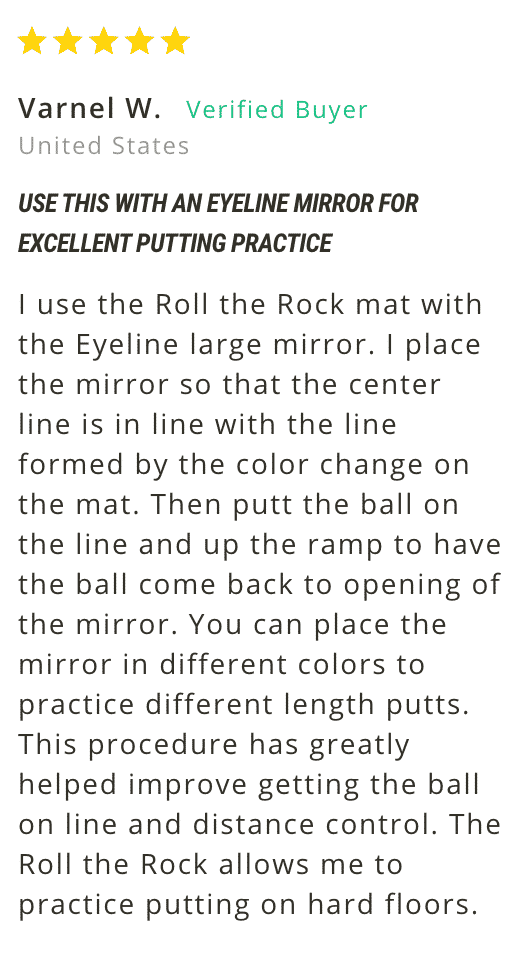 Roll the Rock Putting mat Customer Review