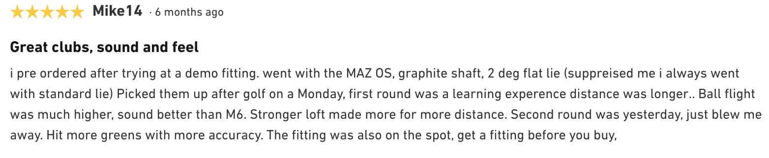 Sim Max OS Irons Customer Review