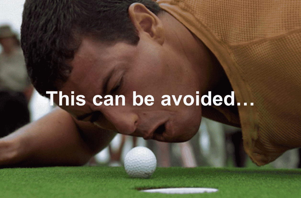 Frustrated Golfer yelling at golf ball
