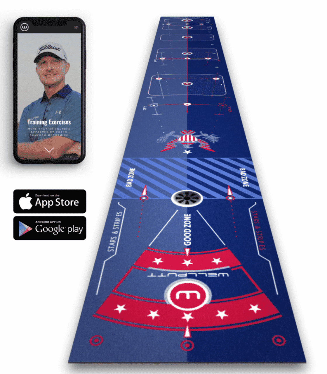 Wellputt Mat Stars & Stripes Limited Editon